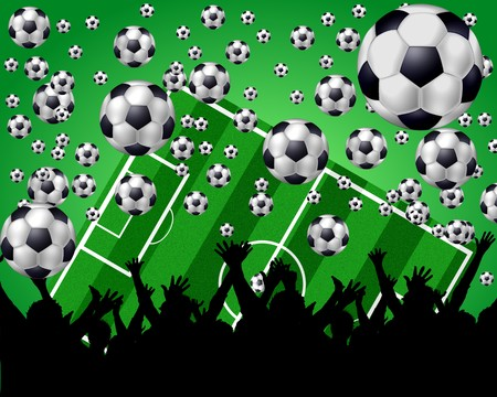 soccer background 3 Stock Photo