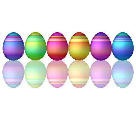 set of colorful easter eggs photo