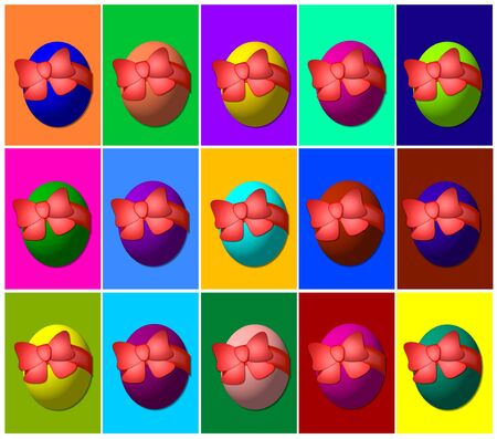 easter egg background Stock Photo - 4532335