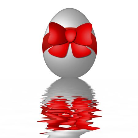 white easter egg with reflection Stock Photo - 4532368