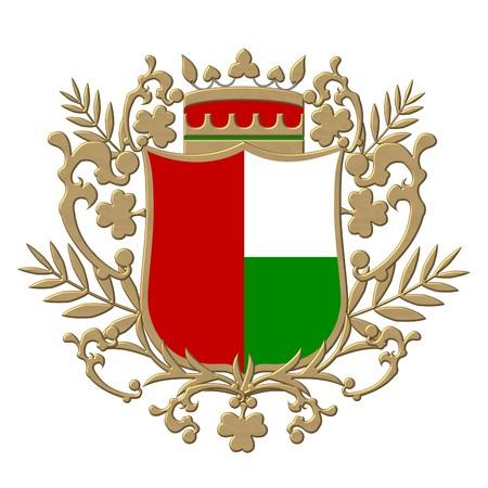 red coats: golden heraldic shield
