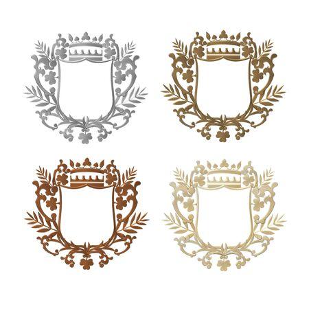set of heraldic shields photo