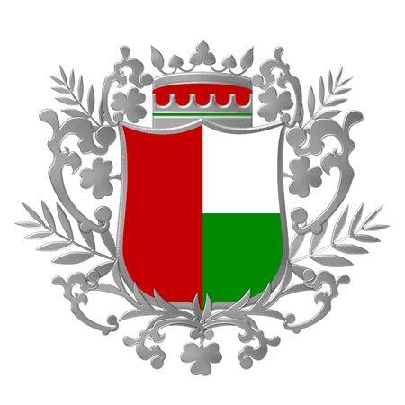 silver heraldic shield photo
