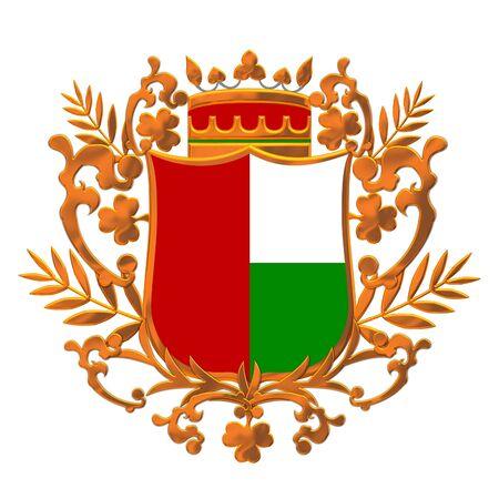 heraldic shield design photo