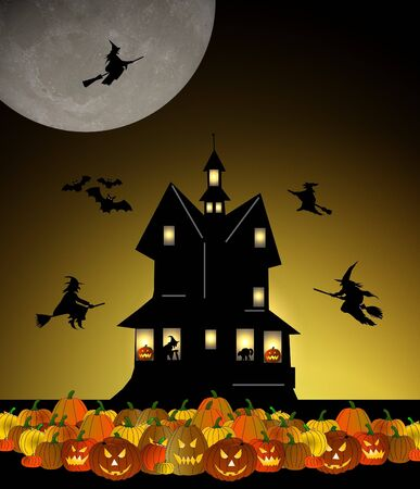 halloween house photo