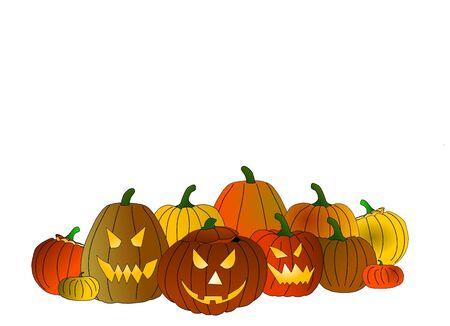 bordering: halloween pumpkins