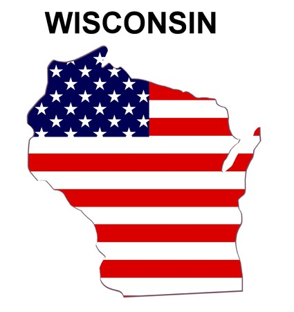 Map of Wisconsin photo