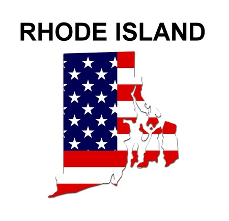 Rhode Island State On Map Of Usa Stock Illustrations Cliparts - Rhode island us map
