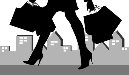 shopping woman silhouette 4