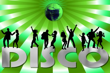 green retro disco background Stock Photo - 4532863