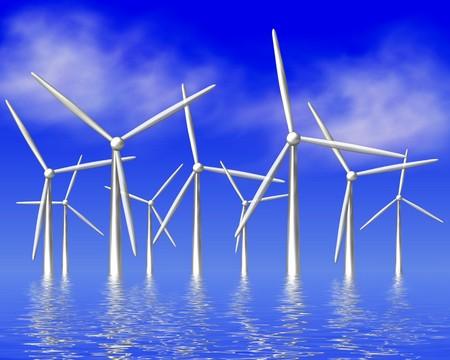 windpower at the sea photo