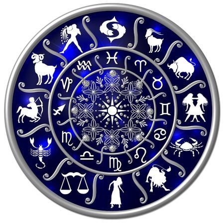 aquarius: dark blue zodiac disc