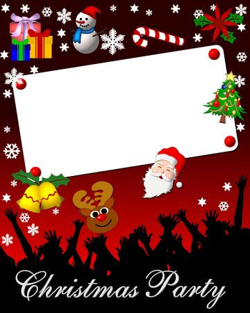 christmas party placard Stock Photo - 4532748