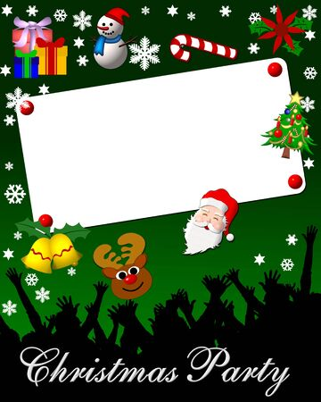 green christmas party placard Stock Photo - 4532745
