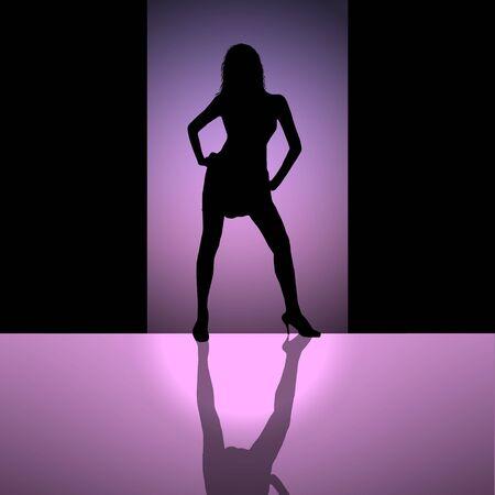 violett: woman in violett light