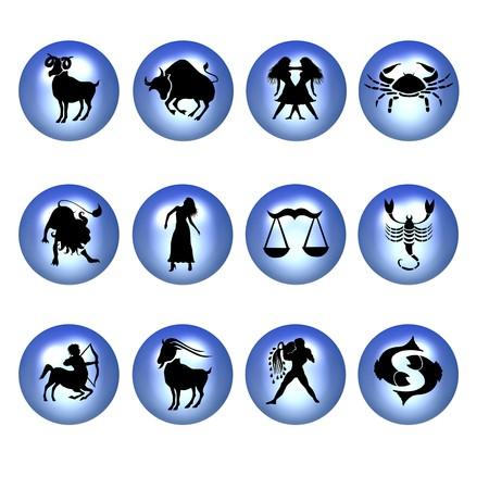 jungfrau: Blau Sternzeichen Symbole