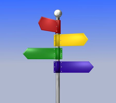 Colorful signposts