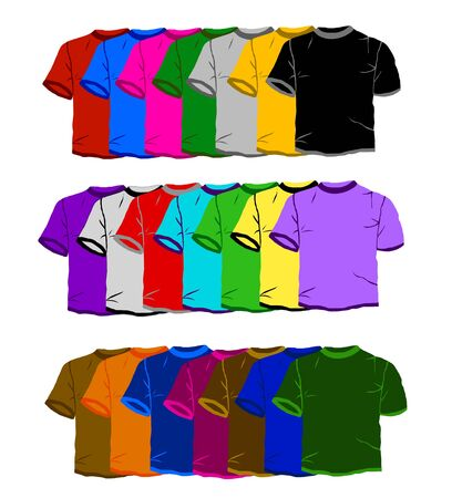 polyester: colorful t-shirts  2 Stock Photo