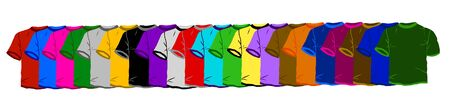 polyester: colorful t-shirts  1 Stock Photo