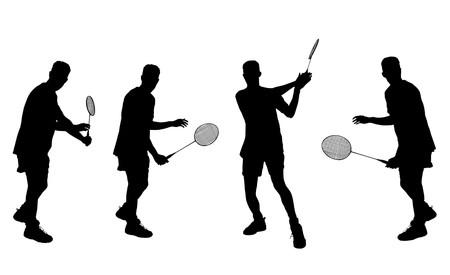 badminton player 1 Banco de Imagens