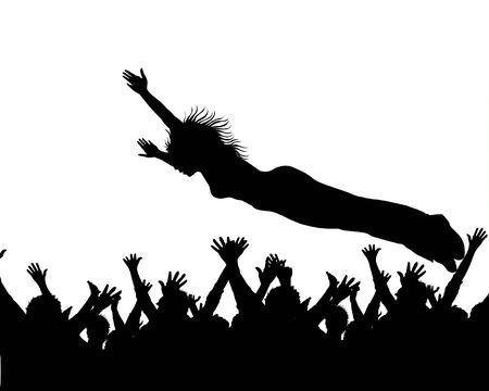 ent: illustration of a stage dive