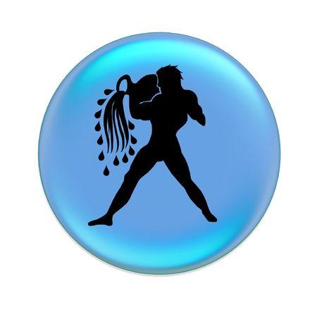 aquariun zodiac button