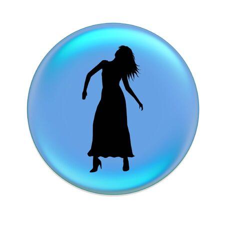 virgo zodiac button Stock Photo