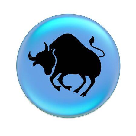 taurus zodiac button Stock Photo
