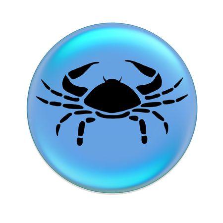 future sign: cancer zodiac button