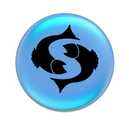 pisces zodiac button