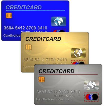 creditcards: 3 creditcards