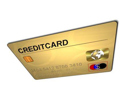 creditcard: golden creditcard