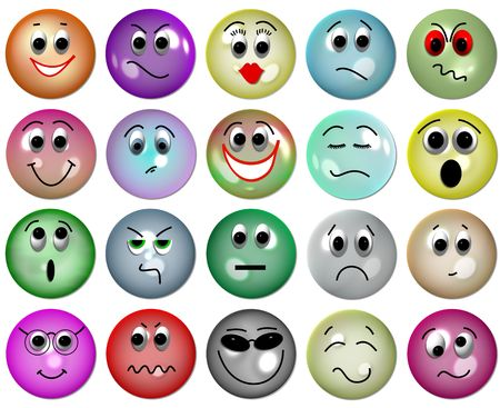 glas smileys Stock Photo - 4583635