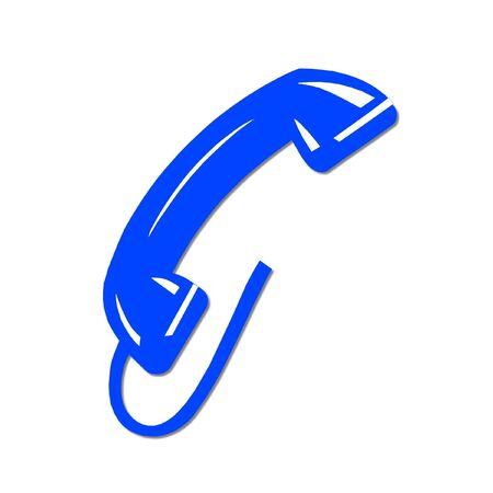 closet communication: blue phone Stock Photo