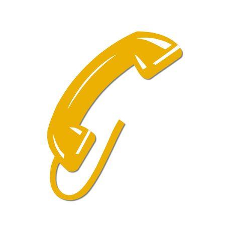 yellow phone Stock Photo - 4582576