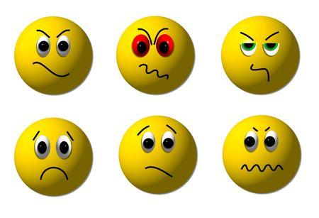 smileys: angry smileys