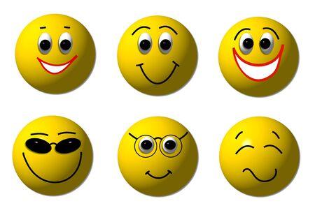 smileys: happy smileys