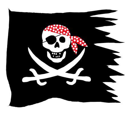 pirate symbol: pirate flag Stock Photo