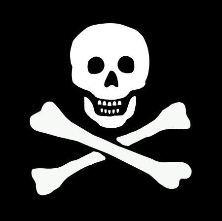drapeau pirate: crâne