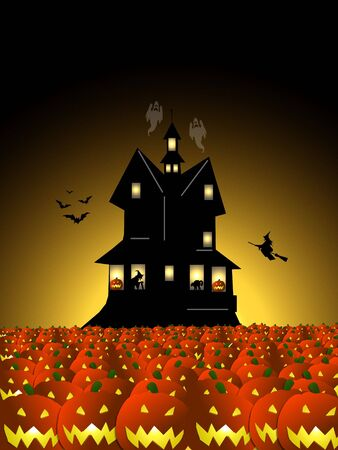 psyco: halloween night Stock Photo