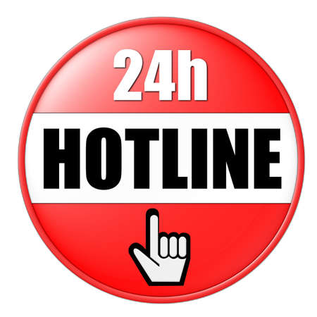 onlineshop: 24h hotline button red Stock Photo