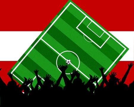 soccer background austria Stock Photo - 4817648
