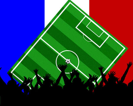 soccer background france Stock Photo - 4850775