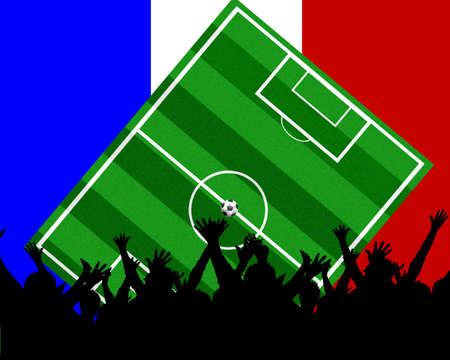 soccer background france Stock Photo - 4850775
