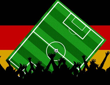 soccer background germany Stock Photo - 4850772