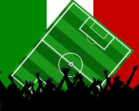 soccer background italy Stock Photo - 4850768