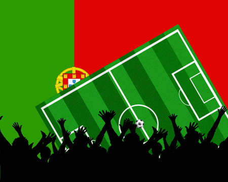 soccer background portugal Stock Photo - 4850769