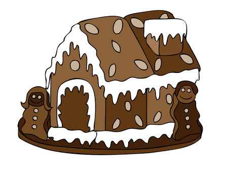 gingerbread house vector Vector