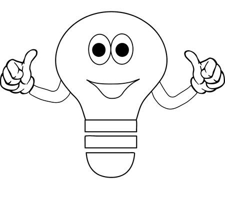 clip-art bulb Stock Vector - 4851876