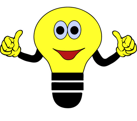 vector lamp: yellow clip-art bulb